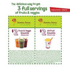 $2 Jamba Juice coupon. Valid until 3/25/12