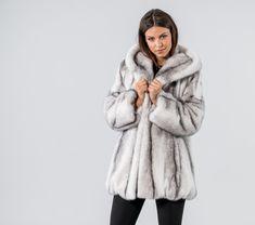 8ea11183f021 Black Cross Mink Fur Jacket With Hood.  blackcross  mink  fur  jacket. Haute  Acorn