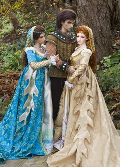Lovely Trio of Dolls in the Woods