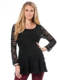 Motherhood Jessica Simpson Lace Maternity Peplum Tee Shirt on shopstyle.com