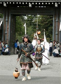 Jidai-Matsuri (Jidai-festival)in Kyoto Japan.   Bakumatsu era samurai costume. Maki Izumi.