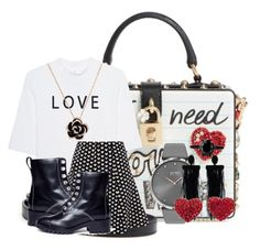 """""""Love is all the Style we need"""" by dmcclothinglinefashionstylist on Polyvore featuring Dolce&Gabbana, Soufiane Ahaddach, 3.1 Phillip Lim, BOSS Black and Oscar de la Renta"""