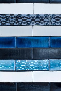 Hand glazed and decorated terracotta tiles  from the Made a Mano Pop collection