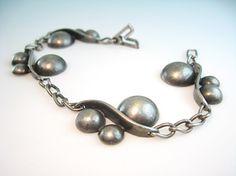 Jo Pol Signed Sterling Silver Bracelet Georg Jensen Designer Joan Polsdorfer 1940s