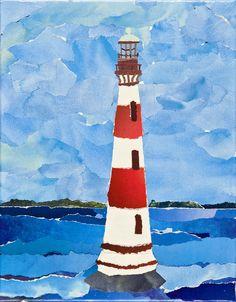 Morris Island Lighthouse collage