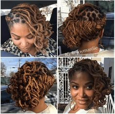 One of the keys to the neatness of my styles is retwisting locs in the direction that you want them to fall, when necessary. I typically… Natural Hair Inspiration, Natural Hair Tips, Natural Hair Styles, Dreadlock Styles, Dreads Styles, Braid Styles, Afro, Beautiful Dreadlocks, Hair Locks