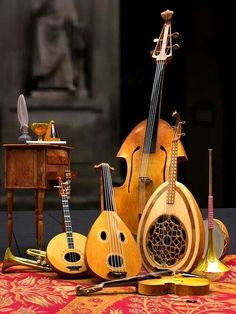 Bass, lute, and more musical instruments which are awesome Sound Of Music, Music Is Life, My Music, Motif Music, Early Music, Folk Music, Music Lovers, Classical Music, Music Stuff