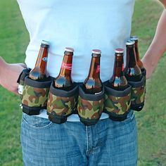 Gift Idea: Deluxe Six-Pack Beer Belt Holster, Camo Tailgate Drinks, Tailgating, Gag Gifts For Men, Gifts For Dad, Online Shopping, Top Christmas Gifts, Christmas Ideas, Alcohol Gifts, Gadgets
