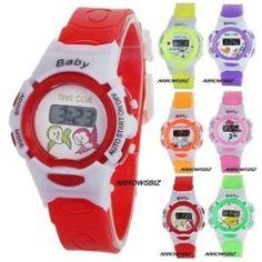 Montre Enfant Garçons Filles Étudiants Bébé Heure Minutes Réveil Alarme Bracelet Électronique Numérique Sport
