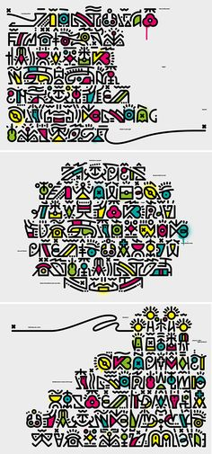 Typography Poster, Typography Design, Hidden Alphabet, The Secret Scripture, Hidden Images, Mini Drawings, Behance, Flat Illustration, Illustrations