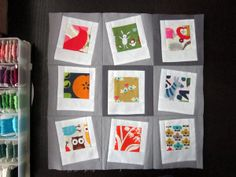Polaroids for the Love Circle by StitchedInColor, via Flickr