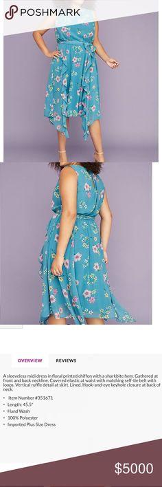 b33d49c82f9e4 Shop Women s Lane Bryant size Various Midi at a discounted price at  Poshmark. Description  Chiffon Sharkbite Midi Dress 👗 PERFECT FOR SPRING!