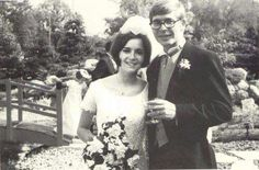 John Denver, and Annie, on their wedding day.