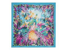 Abstract Floral Print Scarf - Scarves & Accessories - Women - Salvatore Ferragamo