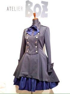 軍服のかっこいい所を取り入れつつも、女の子らしさを忘れていないデザインの「軍服ワンピース」♡(≧∇≦) とにかく見てみてください♡