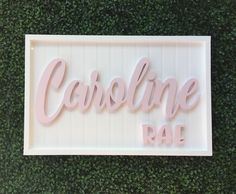 A personal favorite from my Etsy shop https://www.etsy.com/listing/497863369/custom-baby-name-sign-baby-shower-gift