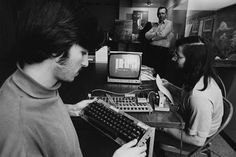 Steve Jobs and Steve Wozniak with computer. Steve Jobs (left) and Steve Wozniak (right) met in a garage in the late The two of them bonded over their shared interest in electronics and practical jokes. Courtesy of Joe Melena Apple Computer, Inc. Steve Wozniak, Bill Gates Steve Jobs, Apple Ii, All About Steve, Computer History Museum, Build Your Own Computer, Steve Jobs Apple, Tech Sites, Computer Shop
