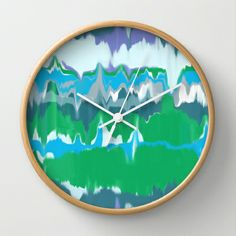 Marbled in jewel Wall Clock by Domesticate on Society 6