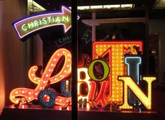 city life mood board las vegas sign style window display, Christian Loubotin by #studio xag