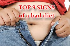 Top 9 signs of a bad #diet #weightloss