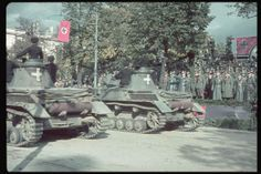 German victory parade in Warsaw. 2L on platform: Hitler. Location:Warsaw, Poland Date taken:October 1939 Photographer:Hugo Jaeger Luftwaffe, Triple Entente, Victory Parade, Panzer Iv, Ww2 Tanks, The Third Reich, Military Equipment, German Army, World War Two