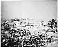 Barlows' Knoll after first day's battle, Gettysburg, Pennsylvania, northwest of town. July 1, 1863., ca. 1960 - ca. 1997