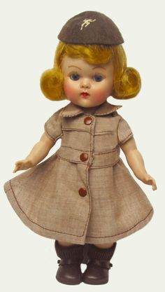 "8"" VOGUE  PL.SLW GINNY Brownie 1957 WEARING MINT/complete  #7032 #VOGUEDOLLCOMPLETEMINT7032PAGE168 #1957PLSLWVINTAGE8VOGUEGINNYDOLLBROWNIE"