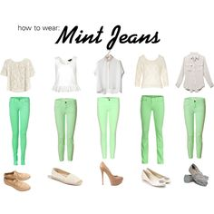 """""""How To Wear Mint Jeans"""" by dominiquee920 on Polyvore"""