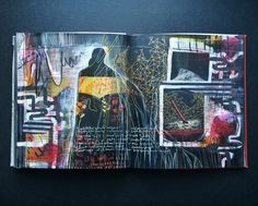 """outgrown"" journal spread by artist Roxanne Coble (by bun blog)"
