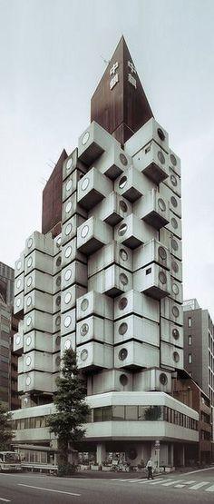 Nakagin Capsule Tower Building by Kisho Kurokawa