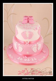 Pitter Patter Christening Cake by Little Cherry Cake Company, via Flickr