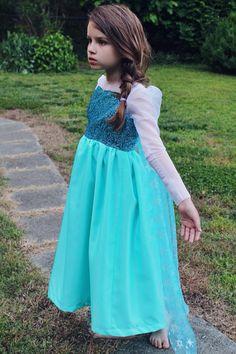 Girls Elsa from Frozen Costume on Etsy, $89.00