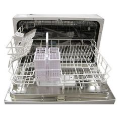 SPT Countertop Dishwasher, Silver  $242.74. SO CONVIENENT!  Build it in?