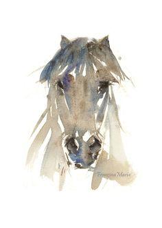 Icelandic Horse animal art watercolor print by FrancinaMaria
