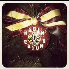 ULL proud Ragin Cajun! Custom ornament (: