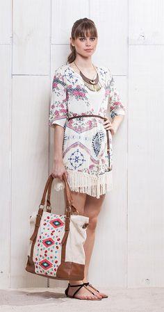 Kimono Franjas Boêmia | Lookbook | Antix Store 100% viscose