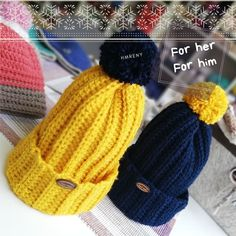 💛...💙 #crochetmania #crochet #hat #hats #yarn #yarnaddict #wool #gift #love #knit #knitlife #knittingtime #knittinginstagram #bhooked… Knitted Hats, Wool, Knitting, Crochet, How To Make, Handmade, Gifts, Instagram, Hand Made