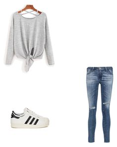 """""""Untitled #47"""" by princxssb on Polyvore featuring AG Adriano Goldschmied and adidas Originals"""