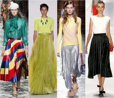 Pleated skirts spring-summer 2016