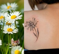 When you find something you want to view later, put it in Pocket. Daisy Tattoo Designs, Daisy Flower Tattoos, Black Tattoos, New Tattoos, Small Tattoos, Tatoos, Piercing Tattoo, I Tattoo, Piercings