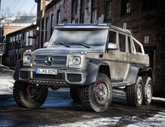 The G 63 6x6 AMG touched down in NYC for the Super Bowl!