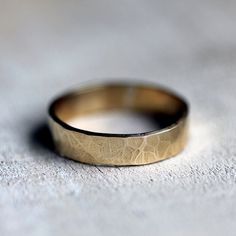 Hammered 14k gold wedding band by PraxisJewelry on Etsy Praxis Jewelry