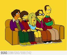 The Big Bang Theory Stars visiting the Simpsons Universe