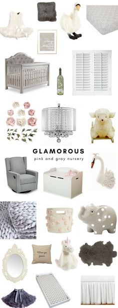 Everything you'll need to decorate a dreamy, elegant girls nursery in pink and gray tones is now on the blog! From a silver tufted crib to a pink tulle canopy, I've got you covered with the prettiest girls nursery details.