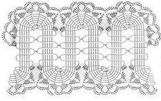 Здесь будем размещать схемы кружев Filet Crochet, Irish Crochet, Crochet Stitches, Crochet Girls, Crochet Home, Diy Crochet, Bruges Lace, Lace Patterns, Knitting Patterns