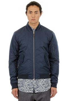 Bomber jacket with polyester silk padding, it's softer and more voluminous than normal polyester padding. Shell fabric is waterproof, all vital seams are taped.