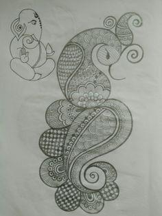 Pencil Henna pattern 04 done by beena Patel Peacock Mehndi Designs, Mehndi Designs Book, Indian Mehndi Designs, Mehndi Designs 2018, Modern Mehndi Designs, Mehndi Designs For Girls, Mehndi Design Pictures, Wedding Mehndi Designs, Beautiful Mehndi Design