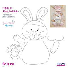 """"""" Сабинёнок """" - Игрушки из фетра.Мастер-классы.   VK Felt Patterns, Stuffed Toys Patterns, Sewing Patterns, Felt Crafts, Easter Crafts, Diy And Crafts, Rabbit Crafts, Butterfly Template, Felt Bunny"""