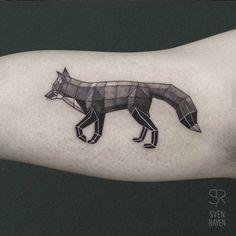Low Poly Geometric Animal Tattoos by Belgian Artist Sven Rayen ...