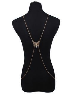 Cut Out Butterfly Body Chain #jewelry, #women, #men, #hats, #watches, #belts